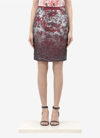 Prabal Gurung Silk blend Jacquard Pencil Skirt - Lyst