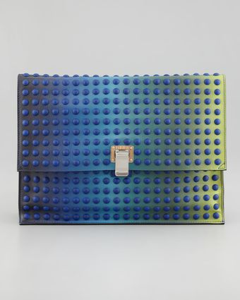 Proenza Schouler Large Studded Ombre Lunch Bag Clutch - Lyst