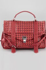 Proenza Schouler Ps1 Triangleprint Medium Satchel Bag  - Lyst
