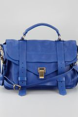 Proenza Schouler Ps1 Medium Satchel Bag Royal Blue - Lyst