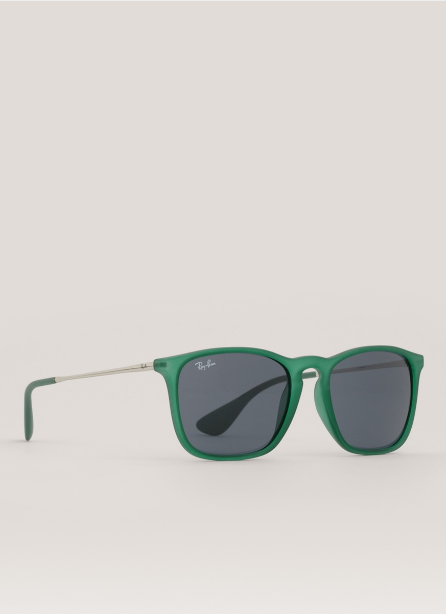 Ray Ban Square Frame Glasses : Ray-ban Chris Square Frame Sunglasses in Green Lyst