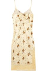Roberto Cavalli Floralprint Stretch Silk Satin Dress - Lyst