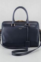 Saint Laurent Small Duffel Bag Dark Blue - Lyst