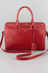 Saint Laurent Small Duffel Bag Red - Lyst