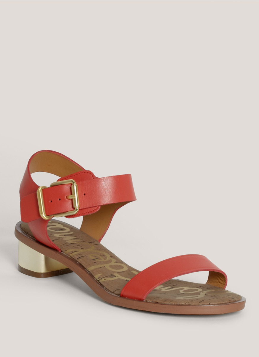 e88137bc5 Lyst - Sam Edelman Trina Strapped Leather Sandals in Red
