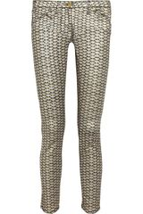 Sass & Bide Super Base Metallic Scaleprint Skinny Jeans - Lyst