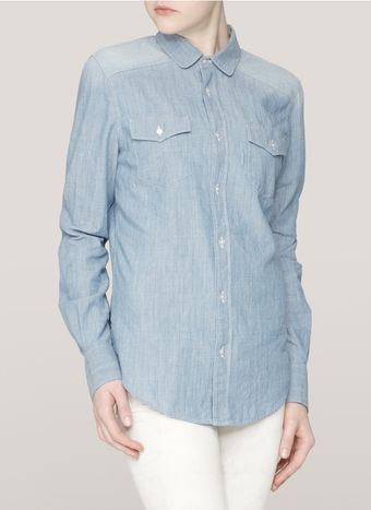 See By Chloé Chambray Shirt - Lyst