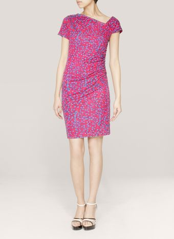 See By Chloé Contrastsleeve Printed Jersey Dress - Lyst
