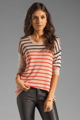 Sonia By Sonia Rykiel Striped Long Sleeve Top in Softmulti - Lyst