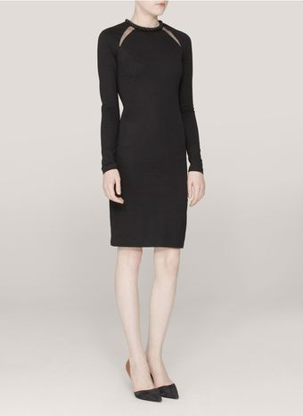 Stella McCartney Jewelneck Meshinsert Dress - Lyst