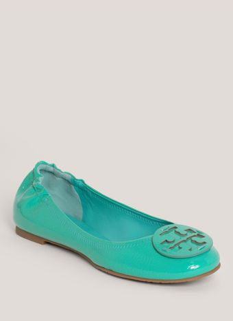 Tory Burch Reva Patentleather Ballerina Flats - Lyst
