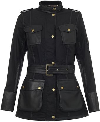 Barbour Black-thorm Leather Jacket - Lyst