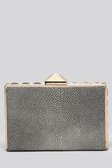 BCBGMAXAZRIA Clutch Stingray Pyramid Frame Box - Lyst