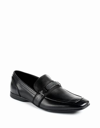 Calvin Klein Shane Leather Loafers - Lyst