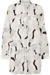 Diane Von Furstenberg Gensy Printed Silk Dress - Lyst