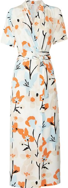 Diane Von Furstenberg Glennis Printed Silk Wrap Dress - Lyst