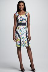 Erdem Sleeveless Printed Sheath - Lyst