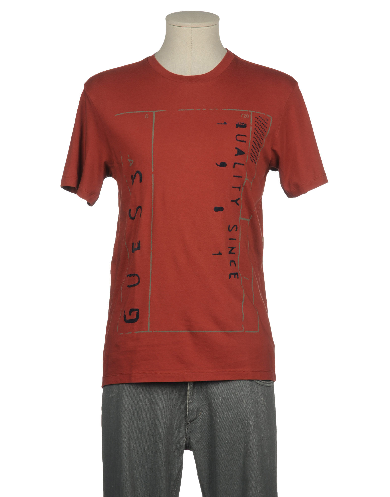 Guess Short Sleeve T Shirt In Purple For Men Lyst