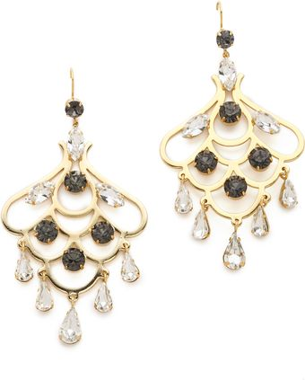 Juicy Couture Rhinestone Chandelier Earrings - Lyst