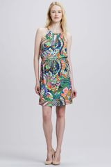 Laundry By Shelli Segal Kyhl Halter Printed Dress - Lyst