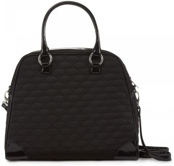 Lulu Guinness Black Quilted Lips Medium Suzy - Lyst