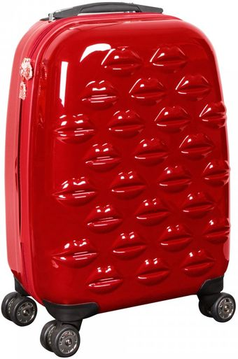 Lulu Guinness Red Hard Sided Lips Small Spinner Case - Lyst