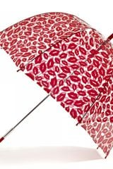 Lulu Guinness Red Lips Birdcage Umbrella - Lyst