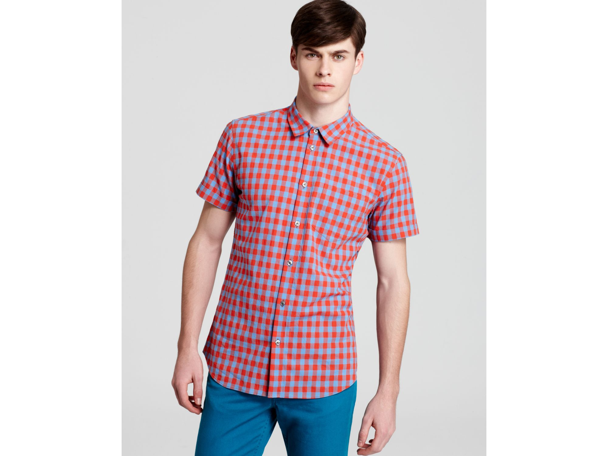 Marc By Marc Jacobs Molly Gingham Check Short Sleeve Sport