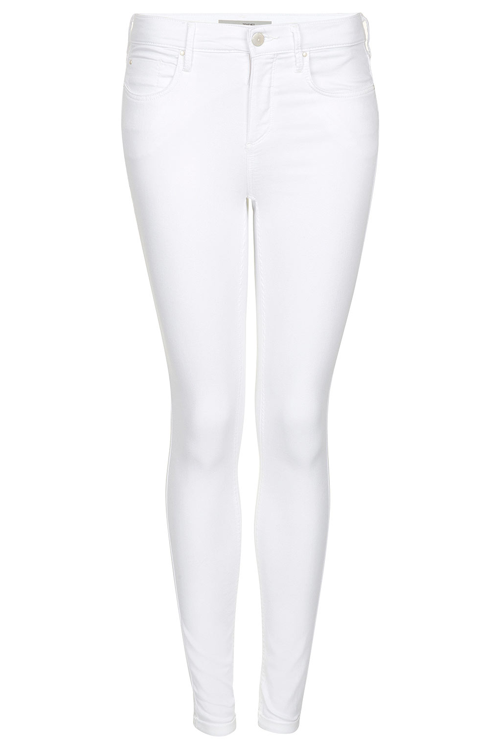 Topshop Leigh Jeans in White | Lyst