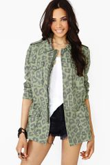Nasty Gal Jungle Army Jacket - Lyst