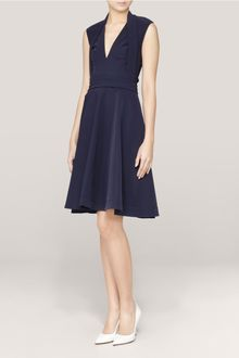 Preen Ted Scarf lapel Flared Dress - Lyst