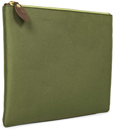 reiss callio fabric document holder in green for men sage With cloth document holder