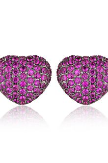 Theo Fennell Ruby Art Earrings - Lyst