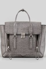 3.1 Phillip Lim Pashli Two-tone Zip Satchel Bag, White/black - Lyst