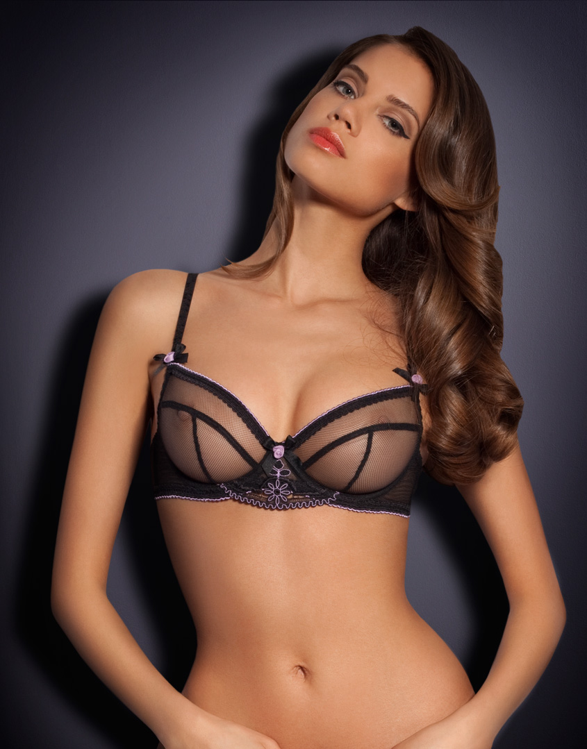 agent provocateur juniper bra in black lyst. Black Bedroom Furniture Sets. Home Design Ideas