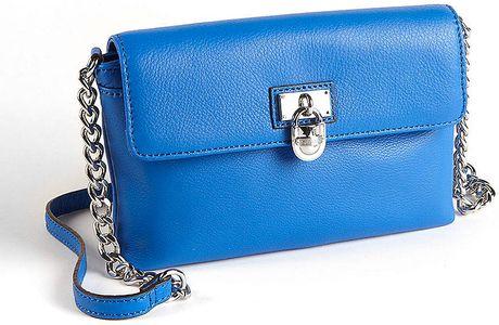 Calvin Klein Leather Crossbody Bag in Blue (cornflower)