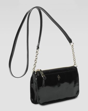 Cole Haan Jitney Patent Ziptop Crossbody Bag - Lyst