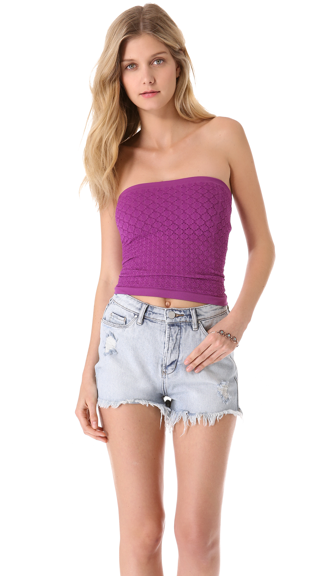 Lyst - Free People Seamless Diamond Textured Tube Top In -6763