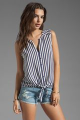 Joie Tyson Stripe Tank in Navy - Lyst