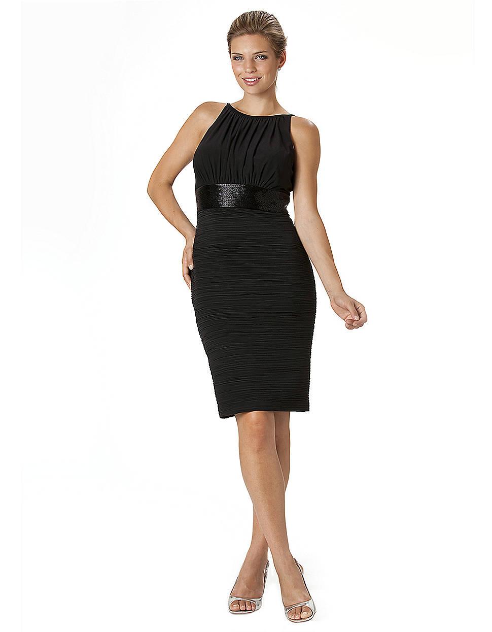Js boutique black halter top ruched dress in black lyst for Boutique tops