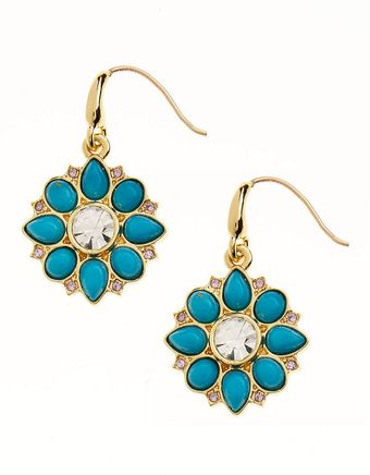 Juicy Couture Flower Drop Earrings - Lyst