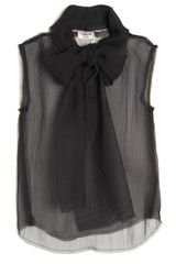 Lanvin Sleeveless Bow Top