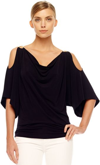 Michael Kors Coldshoulder Jersey Top - Lyst