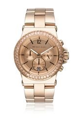 Michael Kors Rose Goldtone Stone Set Watch - Lyst