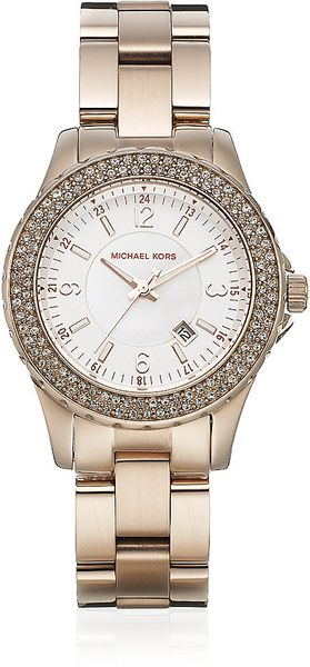 Michael Kors Crystal Watch - Lyst