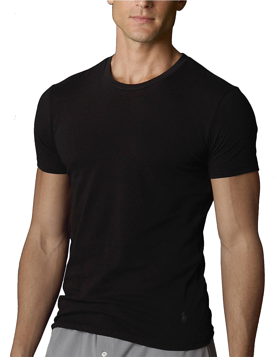 f26c03a6256d Polo Ralph Lauren Two Pack Slim Fit Crewneck T-Shirts in Black for ...