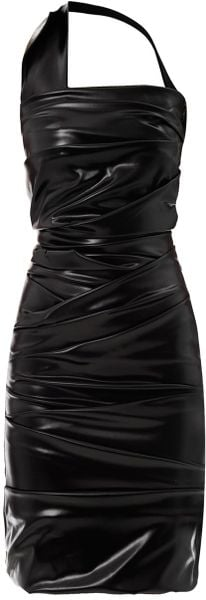 Preen Wet Ripple Halterneck Dress - Lyst
