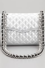 Rebecca Minkoff Quilted Affair Mini Metallic Shoulder Bag - Lyst