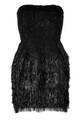 Roberto Cavalli Sequined Mixedmedia Dress in Black