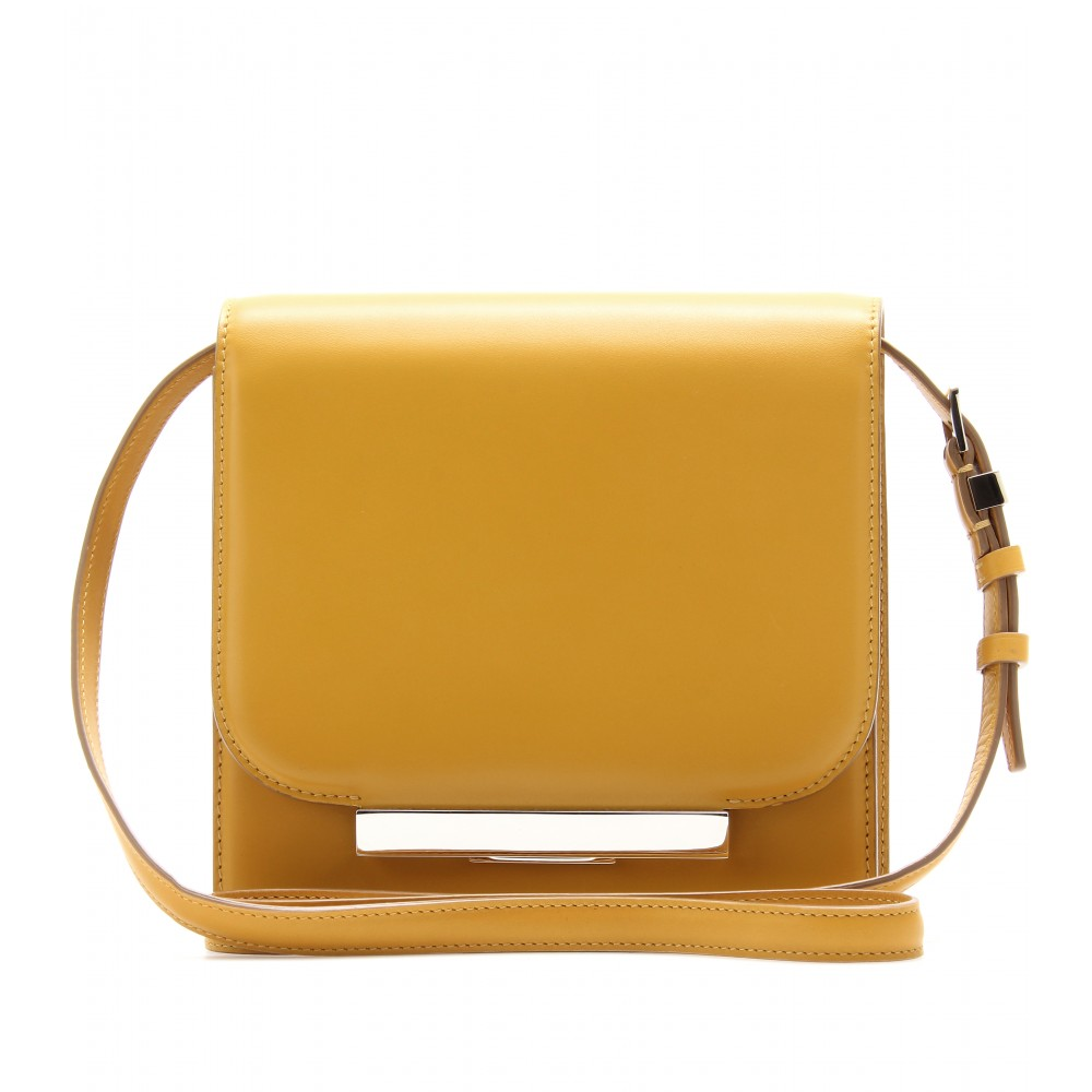 The row Soft Classic Leather Shoulder Bag in Yellow | Lyst